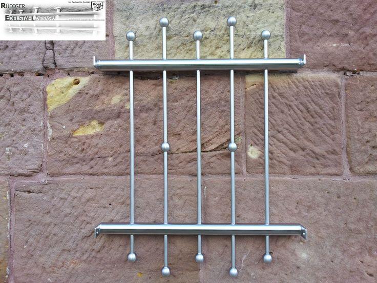 FGM-017 Edelstahl Fenstergitter Schutzgitter Sicherheitstechnik Fenstersicherung