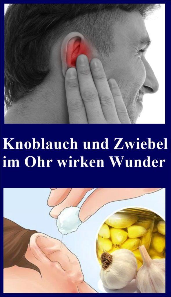 Knoblauch und Zwiebel im Ohr wirken Wunder | isfurano!