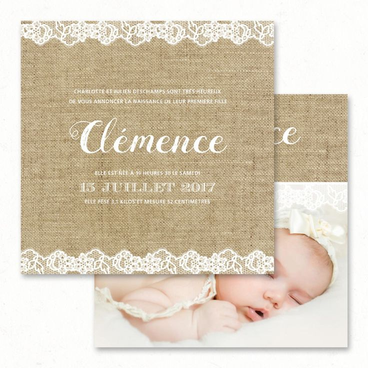 40 best NAISSANCE Faire part Birth Invitations images on