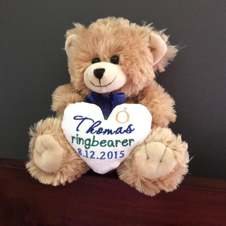 Ring bearer bear page boy teddy bear with images ring