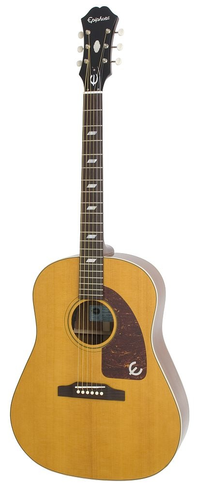 Epiphone Texan. I do believe Paul McCartney plays one of these.