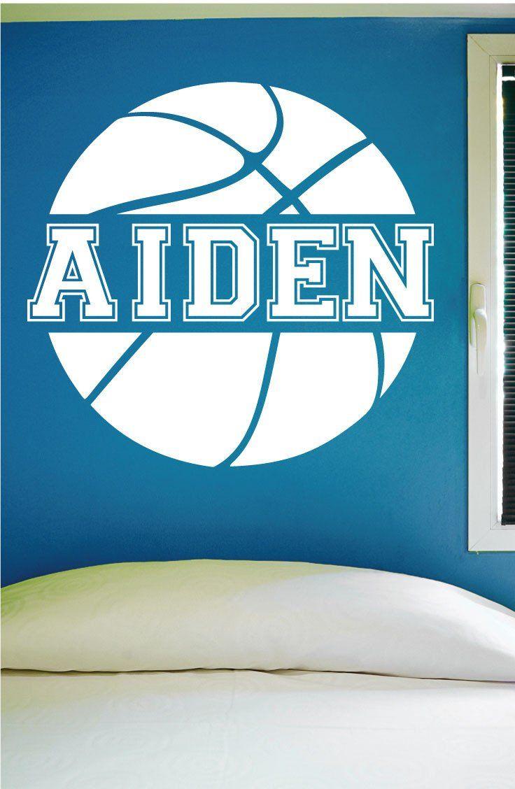 Custom Basketball Name Wall Decal, 0121, Personalized Basketball Name Wall Decal, Girls Basketball, Boys Basketball, Custom Name