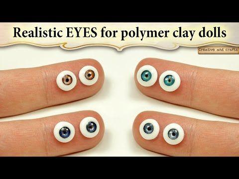 ★ ГЛАЗА ДЛЯ КУКОЛ (полимерная глина + УФ гель) / Eyes for dolls (polymer clay + UV gel) - YouTube