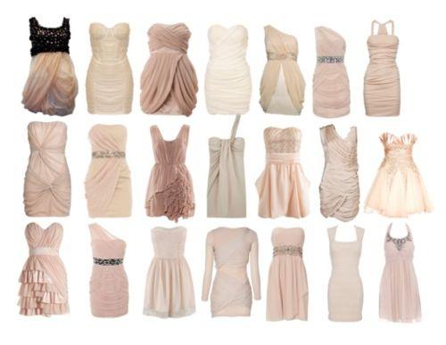 Love these soft colors: Fashion, Style, Wedding Ideas, Bridesmaid Dresses, Color, Nude Dress, Closet