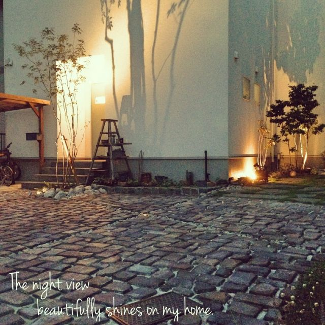 oldwoodさんの、Rustic,外構,カフェ風,ガーデン,塩系インテリアの会,RC愛知,夜景,外構承ります,玄関/入り口,のお部屋写真