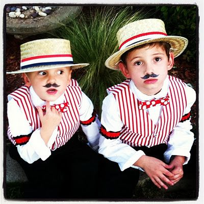 My boys in their Barber Shop Boys costumes!  :)  Halloween 2011