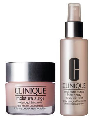 Clinique's Moisture Surge Products for Extended Relief.