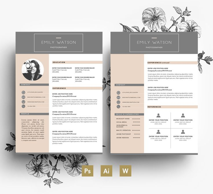 33 best Stylish Resumes images on Pinterest Resume templates - pages templates resume