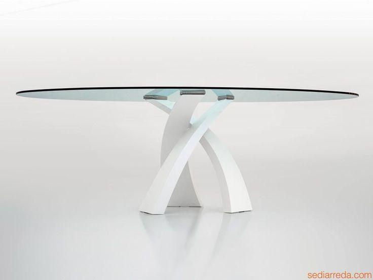 tavolo cristallo rotondo design - Cerca con Google