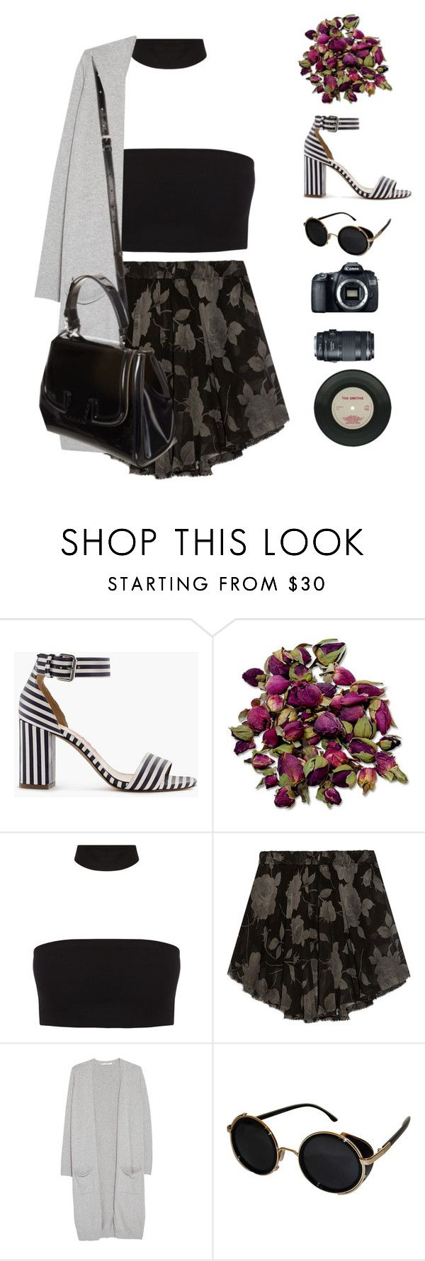 """""""Heart Out   The 1975"""" by gre17 ❤ liked on Polyvore featuring J.Crew, Enza Costa, MANGO, Topshop, Fendi and Eos"""