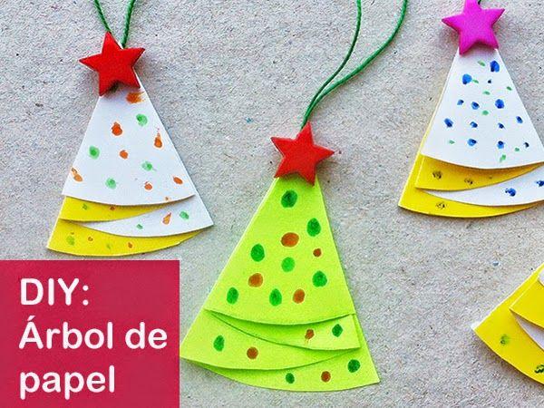 Manualidades rbol de papel f cil gabonak christmas - Decoracion navidad papel ...