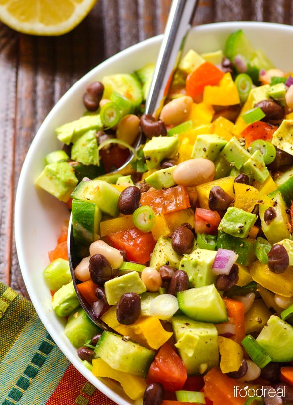 mexican bean salad - just how i like my salad, without lettuce!!