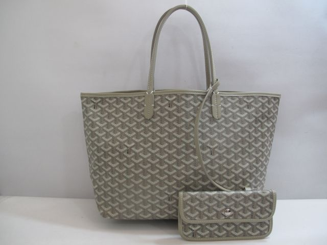 WANT!!  Goyard St Louis PM Light Grey Handbag
