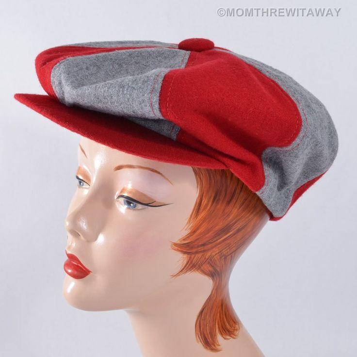 Vintage Ohio State University Osu Wool Newsboy Cap Buckeye