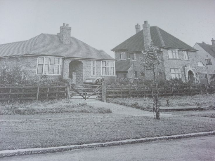 Nos 487-491 Herringthorpe Valley Road, 1937. Herringthorpe Valley Road was constructed in 1933 to link the main road to Doncaster to the road to Maltby. The bungalow no. 487. Chalford was built for Joe Akroyd, a partner in the Rotherham architects J.E Knight & Co. to his own design in 1934. The houses were within Whiston parish until the borough boundary was extended in 1936