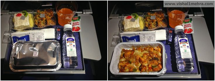 Vistara Premium Economy Dinner Service