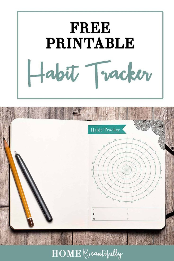 Looking for a habit tracker printable? These two habit tracker ideas are perfect printables or could be sized for your bullet journal. Hop to http://www.homebeautifully.com to download this free monthly habit tracker printable to do goal setting for your next 30 days! Similar ideas: habit tracker printable | free habit tracker | monthly habit tracker | 30 day simple habit tracker #printables #freeprintable #organization #habittracker