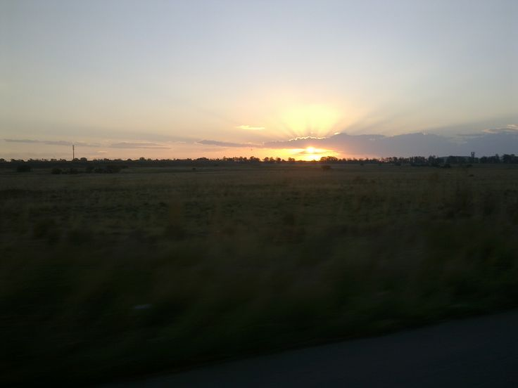 Sunset Odendaalsrus Free State