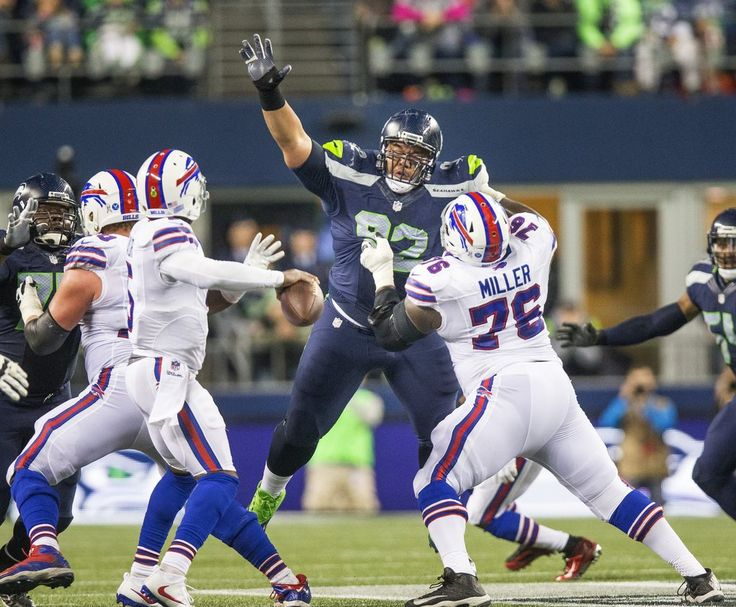 Monday Night Football: Bills vs. Seahawks:   November 7, 2016  - 31-25, Seahawks    Seahawks' Tony McDaniel, here rising up to pressure Buffalo quarterback Tyrod Taylor in a game in November, is an unrestricted free agent and may not be back with Seattle in 2017.  (Dean Rutz / The Seattle Times)