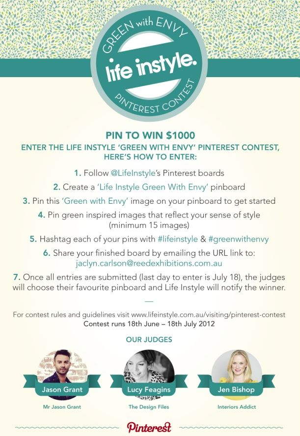 Life Instyle Green With Envy Pinterest Contest