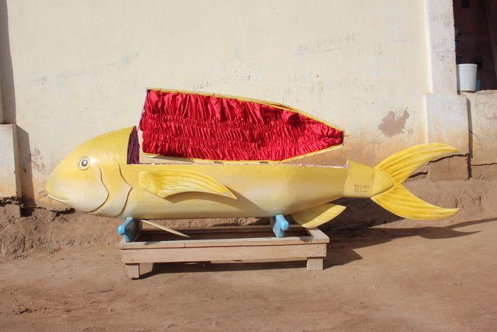 Les cercueils originaux de la tribu Gâ au Ghana