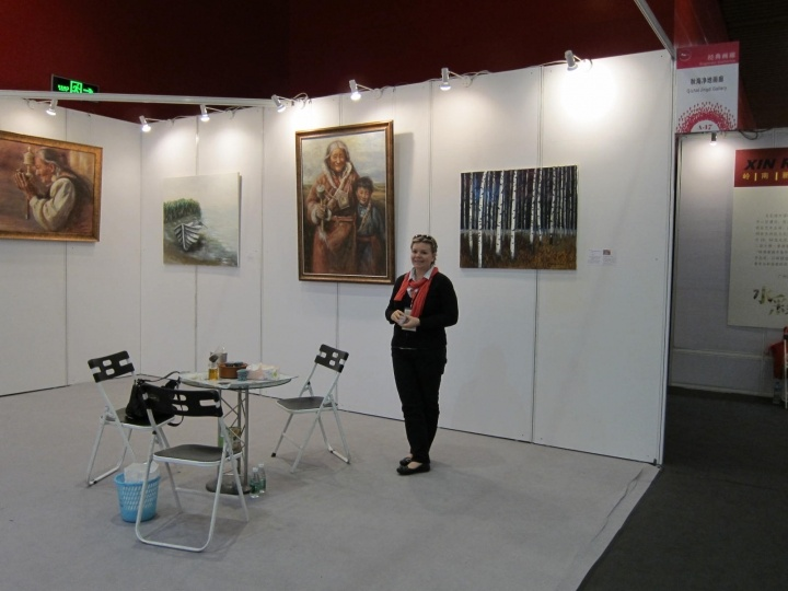 Our booth at the Guangzhou Intl. Art Fair