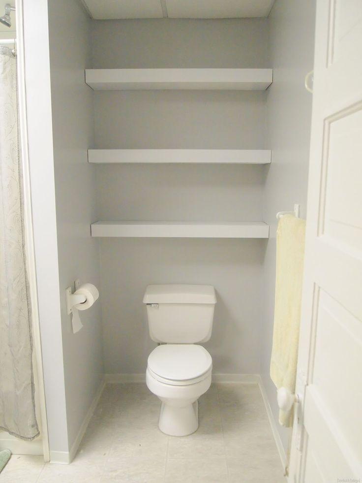 Best 25 powder room decor ideas on pinterest half bath decor bathroom shelf decor and half - Small space shelves concept ...