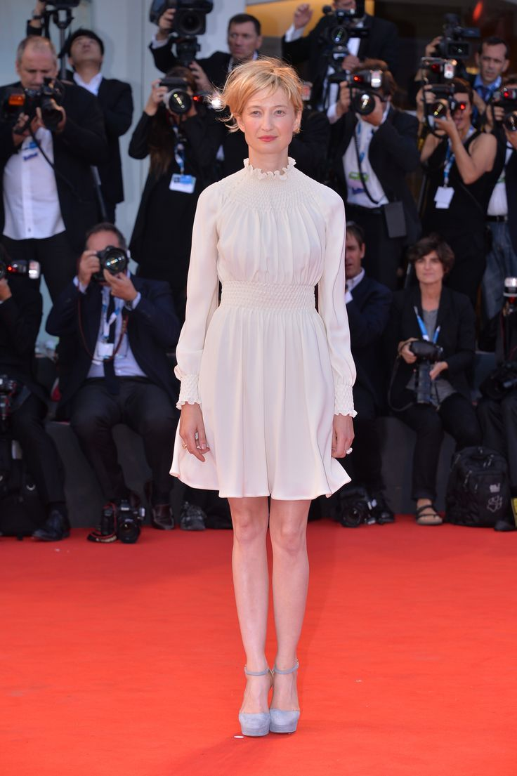 Alba Rohrwacher, winner of the Coppa Volpi 2014, at the Closing Ceremony of the 71st Venice Film Festival on September 6th , 2014. She was wearing a Valentino Haute Couture dress from the Spring Summer 2012 collection and             Valentino Garavani shoes from the Pre Fall 2014/15 collection