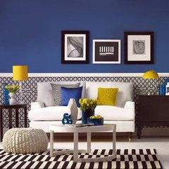 again, love the colors!: Blue Rooms, Idea, Yellow Rooms, Living Rooms, Color Schemes, Color Combos, Blue Wall, Home Paintings Color, Black Decor