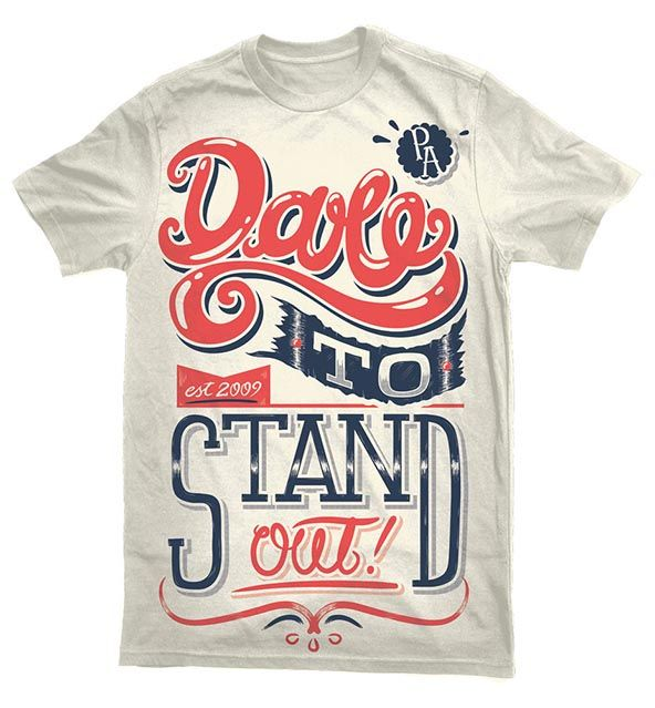 T-shirt Design Inspiration: #TshirtTuesday Week 2 - Typographic t-shirts