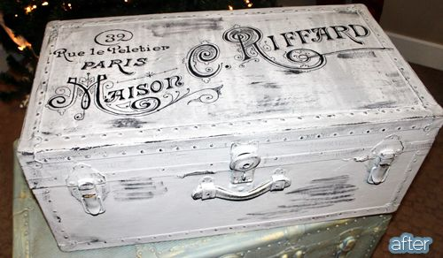 Happy Friday to you! I hope you were hankering for some trunk makeovers, because I've got some in store for you right now. In store?!? Ha! Get it?! Trunks? They store stuff? Oh, nevermind. When Jenny discovered this trunk at an antique mall, it had been abused, forgotten and heavily Sharpied. But with the help …