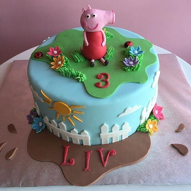 Peppa Pig Themed Birthday Cake!  awesome #cakestotaste from: @cakedup_usa    have your own awesome #cakestotaste ? tag us!!   via #cakeguide #cakemenu #kue #kueenak #kuelucu #kueonline #indonesiaphotographers #cake #cakes #cakeart #cakedesign