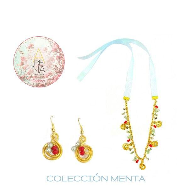 Menta, Dorado y toques de Rojo para un look clásico. Te gusta? comenta ❤ y escribenos a arenabyastrid@gmail.com y para mas info ➡ 00573044426072 00584161703728  #moda #fashion #menta #necklace #clasico #collar #earring #trendy #casual #accesorios #handmade #hechoamano #diseño #outfit #chic #ArenabyAstrisCarolina