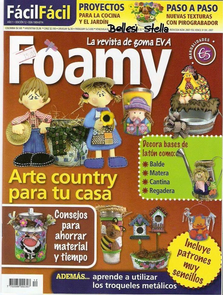 Revistas de manualidades Gratis: figuras para el jardin en foamy