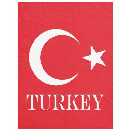 Flag of Turkey Fleece Blanket - diy cyo customize create your own personalize