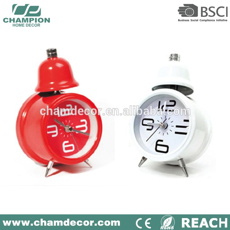 """Multifunction atomic cheap single bell alarm clock , mini baby traditional alarm clock light wholesale"""