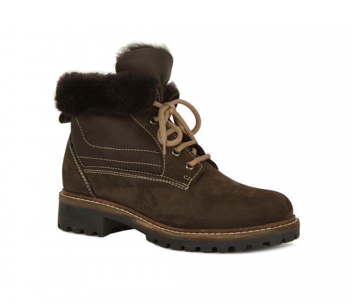 Alessandro Зимние темно-коричневые ботинки от итальянского бренда Alessandro