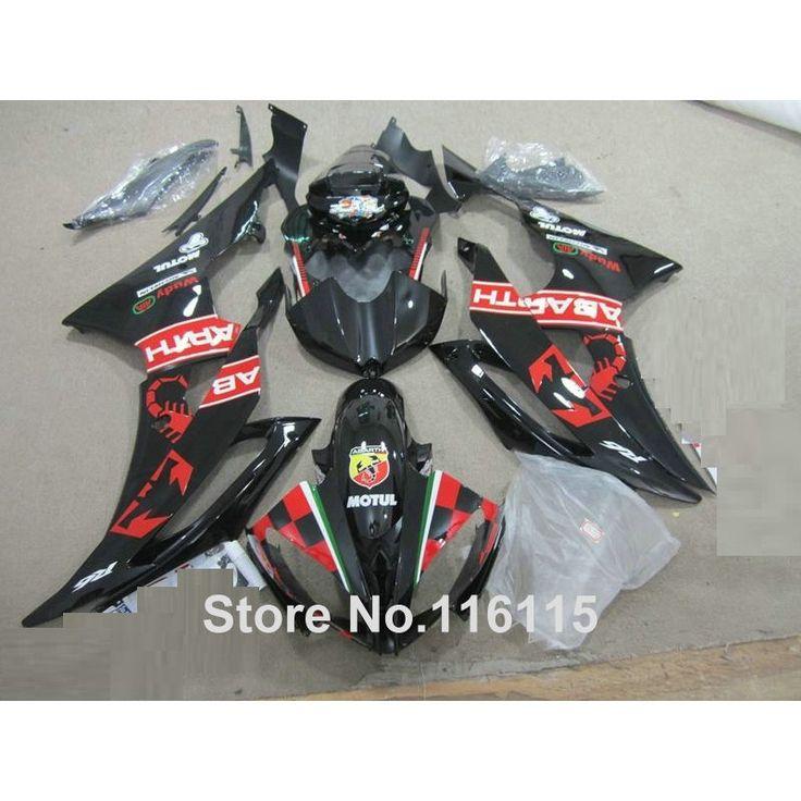 386.40$  Buy now - http://aliacu.shopchina.info/1/go.php?t=32632744176 - Injection molding bodywork fairings set for YAMAHA R6 2008 -2014 black red full fairing kit YZF R6 08 09 - 14 ZB68  #aliexpress