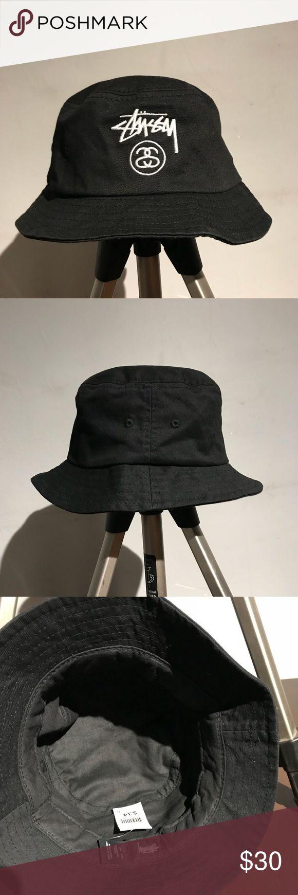 New Stussy Bucket Hat New Authentic Black Studdy Bucket Hat Stussy Accessories Hats