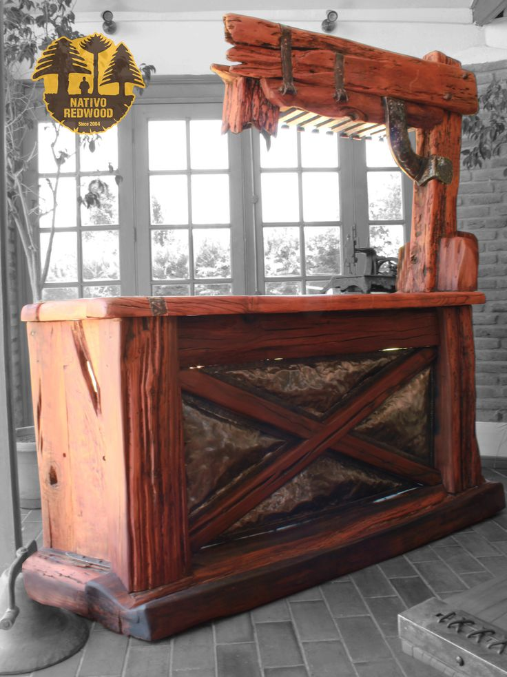Bar on pinterest for Bar de madera y fierro
