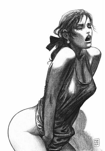 Sexy Girl Illustration, drawing / Illustrazione ragazza sexy, disegno - Art by Milo Manara
