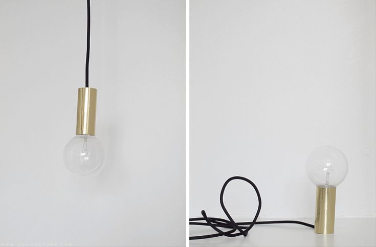 DIY lamp from Design and Form