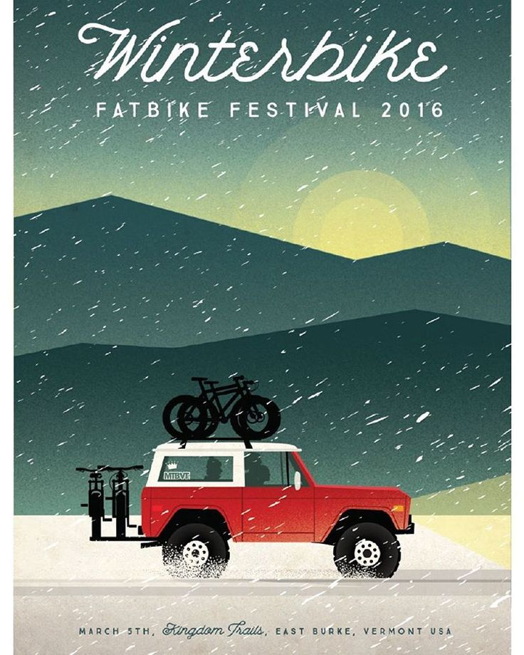 """""""And in other fat bike news, yet another rad event on the horizon, brought to you by our friends at @mtbvermont and @kingdomtrails..."""""""