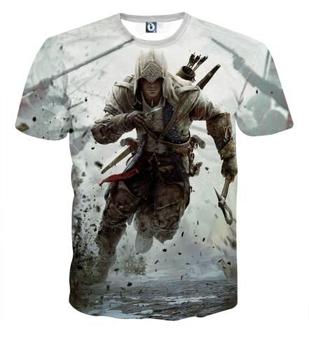 Assassin's Creed Connor Kenway In The Battle Cool T-shirt    #Assassin'sCreed ConnorKenway #In #TheBattle #Cool #T-shirt