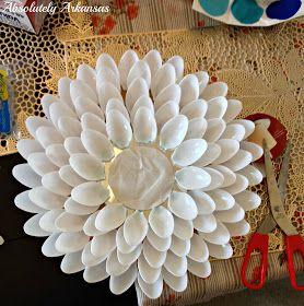 Absolutely Arkansas: DIY Plastic Spoon Sunburst Mirror!