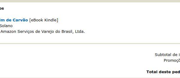 AMAZON BR LIVRO O ESPADACHIM DE CARVÃO - GRÁTIS