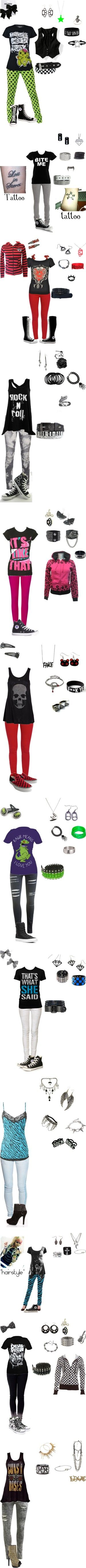 """winter emo clothes"" by foreverbroken ❤ liked on Polyvore wouldn't say it's wintery but oh well ^w^"