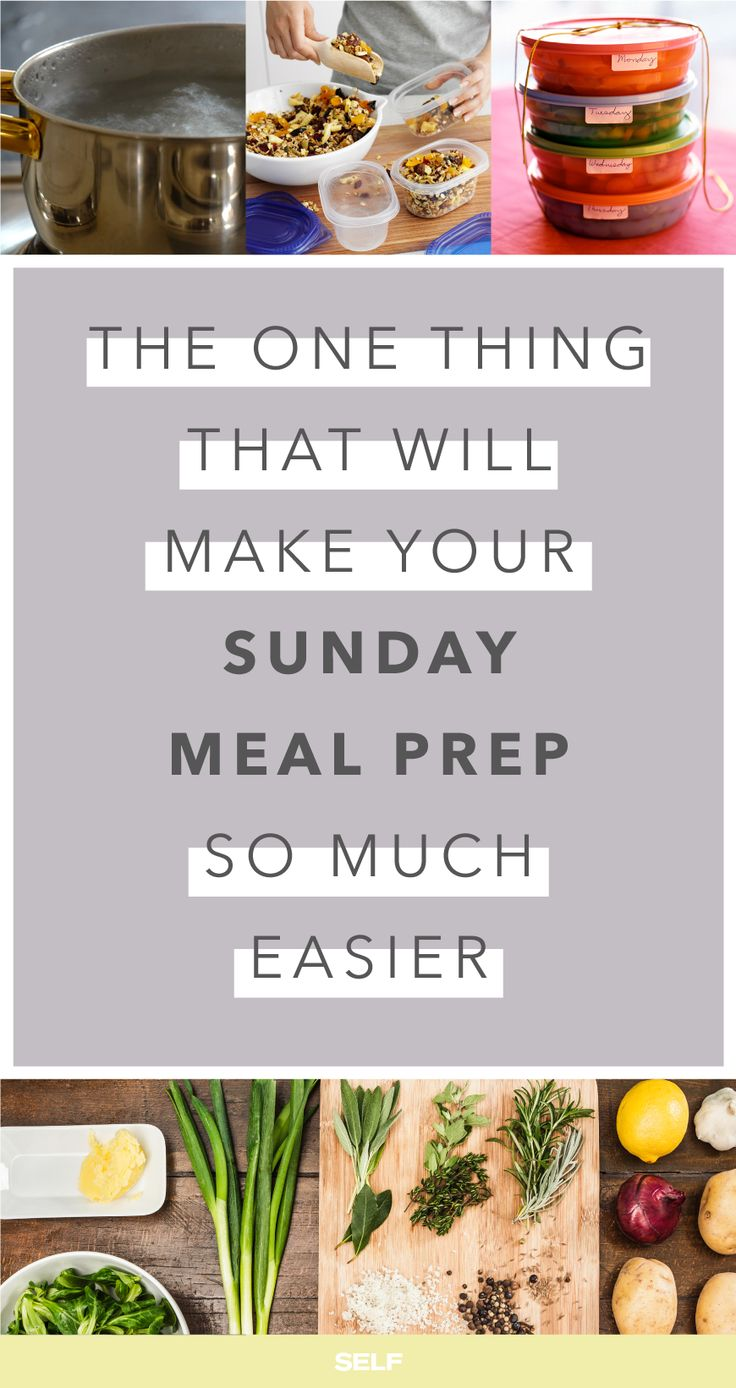 How To Make Sunday Meal Prep Easier With Timing: The One Thing That Will Make Your Sunday Meal Prep So Much Easier. Keep calm and meal prep on. || SELF