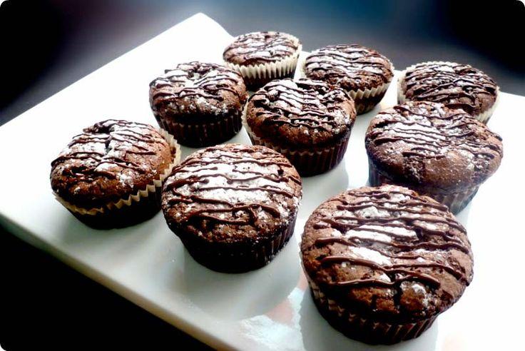 Magdalenas de mousse de chocolate