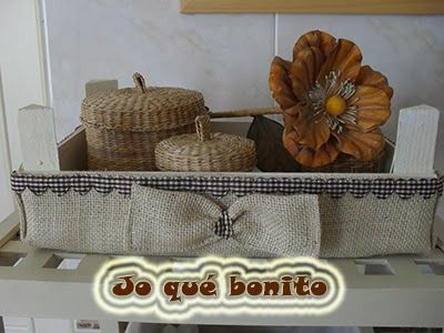 Con tela de saco cajas de fruta decoradas pinterest - Tela de saco ...